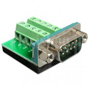 Adattatore DB9 pin Maschio Terminal Block 10 pin
