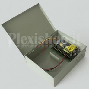 Alimentatore centralina con uscita batteria tampone 12V 5A - PROFESSIONALE