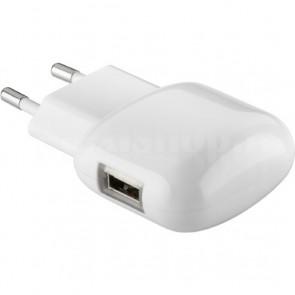 Alimentatore da Rete Italiana 1 porta USB Quick Charge 3.0 Bianco
