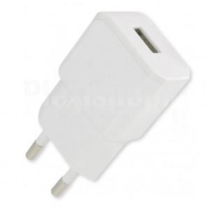 Alimentatore da Rete Italiana a 1 porta USB 5V/2.1A Bianco