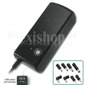 Alimentatore per Notebook regolabile 90 W 12-22 + 5V USB