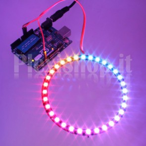 Anello Led Ø 104 mm NeoPixel RGB con 32 LED SMD WS2812