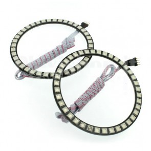Coppia di anelli Led Ø 100 mm - RGB + controller