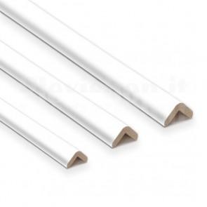 Profilo Angolare in Legno Laccato Bianco 3000x20x20mm, Sp. 5