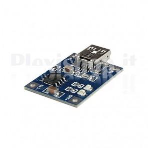 Modulo TP4056, Caricatore per Batterie al Litio
