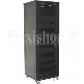 Armadio Rack 19'' 600x600 36U per Audio Video Nero