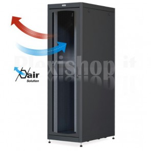 Armadio Server Rack 19'' 600x1000 42U Nero Porta Grigliata