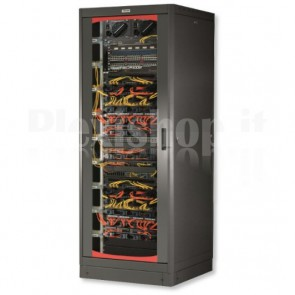 Armadio Server Rack 19'' 600x1200 27U Nero Serie Lite Porta Grigliata