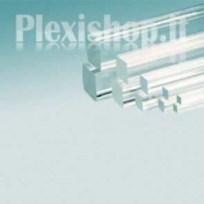 Barra Quadrata in Plexiglass 15x15 mm