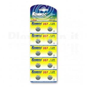 Batterie a bottone Alcalina LR44 LR1154 357 AG13 (set 10 pz)