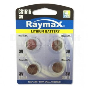 Batterie a Bottone Litio CR1616 (set 4 pz)