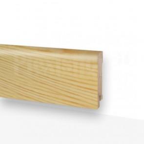 Battiscopa Rivestito in Legno di Abete Grezzo 2400x75x10 mm