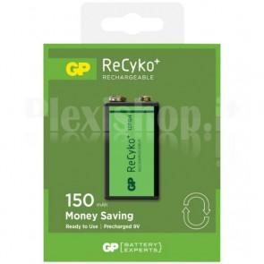 Blister 1 Batteria Ricaricabile 9V GP Recyko
