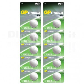 Blister 10 Batterie Litio a Bottone CR2032
