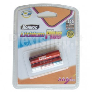 Blister 2 batterie Litio mini stilo AAA 1200mAh