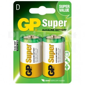 Blister 2 Batterie Torcia D GP Super