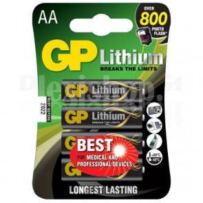 GP litio è la più potente batteria AA e offre le migliori prestazioni per i dispositivi professionali. Fornisce energia costante ai dispositivi medici e funziona in condizioni climatiche estreme.