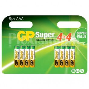 Blister 8 Batterie AAA Mini Stilo GP Super
