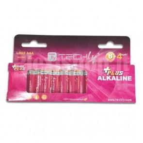 Blister 12 Batterie Power Plus Mini Stilo AAA Alcaline LR03 1,5V
