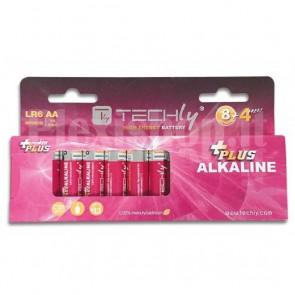 Blister 12 Batterie Power Plus Stilo AA Alcaline LR06 1,5V