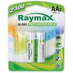 Blister 2 Batterie Ricaricabili Stilo AA 2300mAh