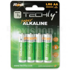 Blister 4 Batterie High Power Stilo AA Alcaline LR06 1,5V