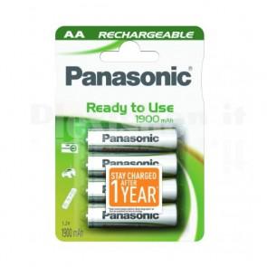 Blister 4 Batterie Ricaricabili AA Stilo 1900mAh Evolta HR6