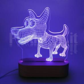 Lampada 3D Cane Funny RGB