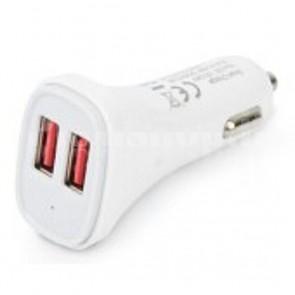 Caricatore da Auto 2 USB 5V 2.4A & 2.4A Bianco
