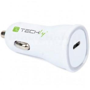 Caricatore da Auto USB-C con uscita 5V da 3A Bianco