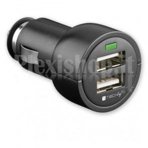 Caricatore USB da auto 12V 2xUSB 3100 mAh