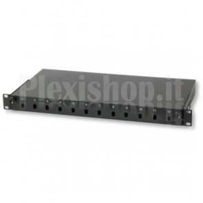 Cassetto Rack 19'' Fibra Ottica 12 porte ST Simplex