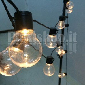 Catena 20 lampadine luminose - BIANCO CALDO