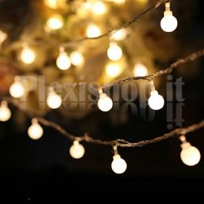 Catena di 50 lampadine luminose - BIANCO CALDO