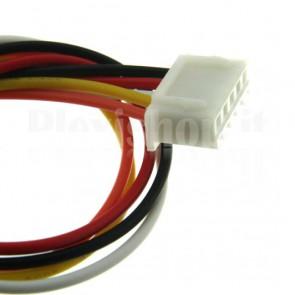 Cavetto bicolore terminato con connettore XH2.54‐5P, 5 contatti