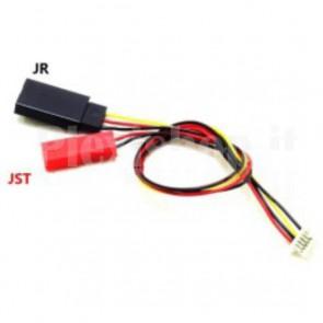 Cavetto con connettori JR JST per telecamere FPV e trasmettitori wireless