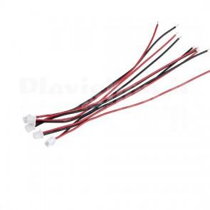 Cavetto rosso nero della lunghezza di 15cm, terminato con un connettore JST 2P passo 1.25mm.