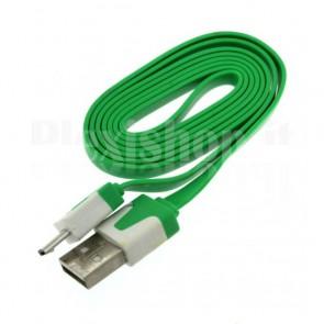 Cavetto micro USB - USB type A di colore verde, 1m