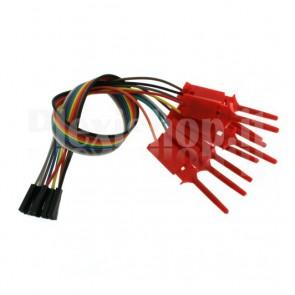 Cavetto multipolare con IC Hook rossi e connettori femmina