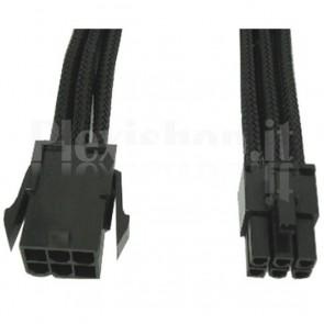 Cavo Prolunga PCI-E 6 Pin 30 cm con Guaina Nera