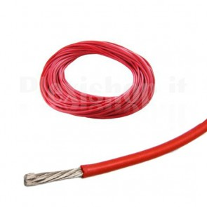 Cavo siliconico rosso 24AWG - 0.2 mmq