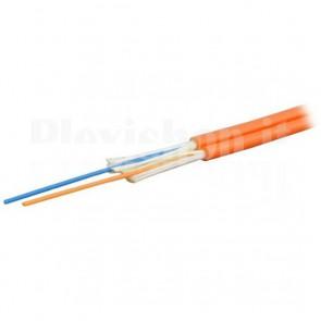 Cavo Zip Cord 2 Fibre Multimodale 50/125 OM2 2.9x5.8 mm Arancione