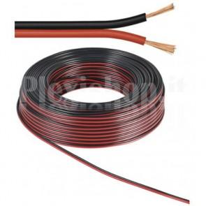 Cavo Audio per diffusori acustici Nero/rosso 0,75 mm² rotolo 50 mt