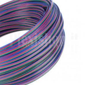 Cavo piatto 4 conduttori per Striscia Led RGB