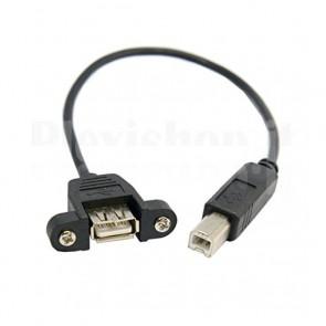 Cavo USB 2.0 B maschio - A femmina per montaggio a pannello
