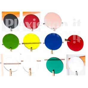 Disco plexiglass colorato Ø 50 mm