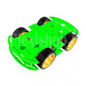 Chassis Smart Car a trazione integrale completo di motori e ruote