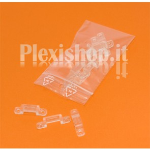 Clips in PVC per Strisce led fino a 14 mm