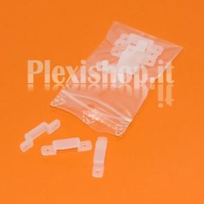 Clips in Silicone per Strisce led fino a 10 mm