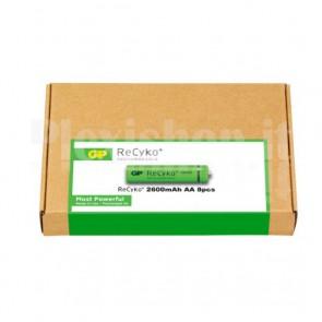 Confezione risparmio 8 Batterie Ricaricabili AA Stilo 2600mAh GP ReCyko+